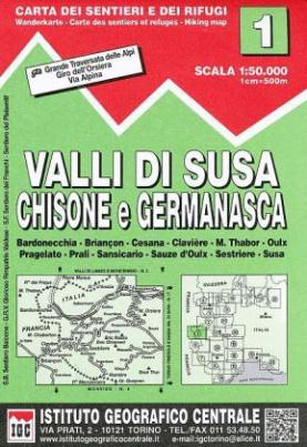 IGC Wanderkarte Valli di Susa, Chisone e Germanasca