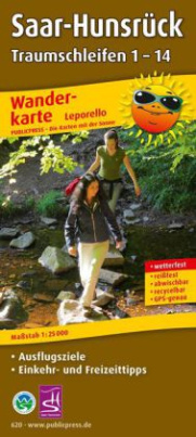 PublicPress Wanderkarte Saar-Hunsrück Traumschleifen 1-14, 14 Teilkarten