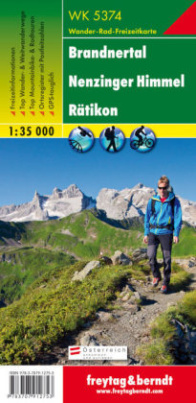 Freytag & Berndt Wander-, Rad- und Freizeitkarte Brandnertal, Nenzinger Himmel, Rätikon
