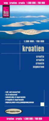 World Mapping Project Reise Know-How Landkarte Kroatien (1:300.000 / 700.000). Croatia / Croatie / Croacia