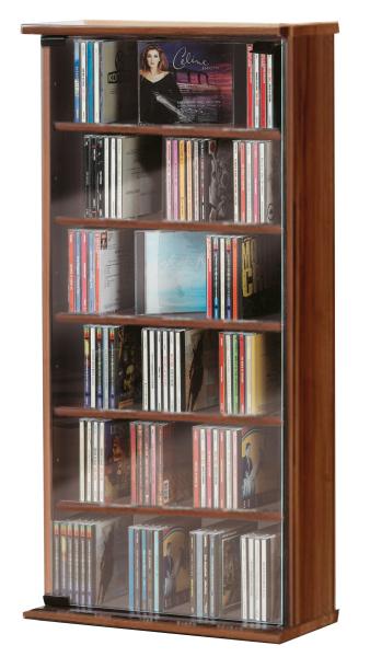robinbook b cher g nstig online bestellen cd schrank vetro kern nussbaum f r 150 cds. Black Bedroom Furniture Sets. Home Design Ideas