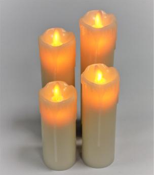 LED-Echtwachskerzen 4er-Set
