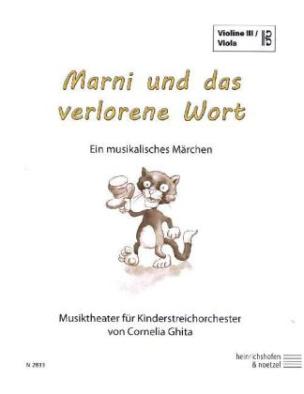 Marni und das verlorene Wort, Violine 3 / Viola im Bassschlüssel Einzelstimme