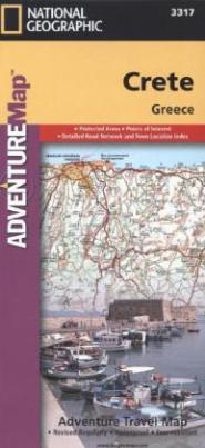 National Geographic Adventure Travel Map Crete, Greece