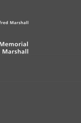 Memorial of Alfred Marshall
