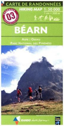 Carte de randonnées Pyrénées Béarn - Aspe - Parc National des Pyrénées