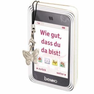 Wie gut, dass du da bist!, m. Handy-Anhänger »Schmetterling«
