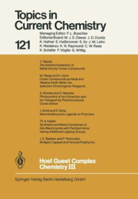 Host Guest Complex Chemistry III