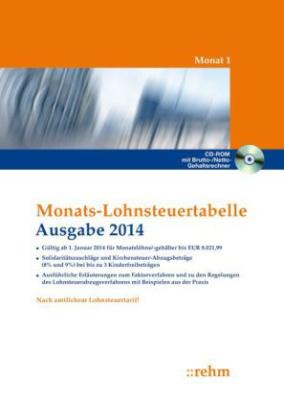 Monats-Lohnsteuertabelle, Ausgabe 2014, m. CD-ROM