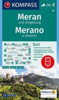 Kompass Karte Meran und Umgebung / Merano e dintorni