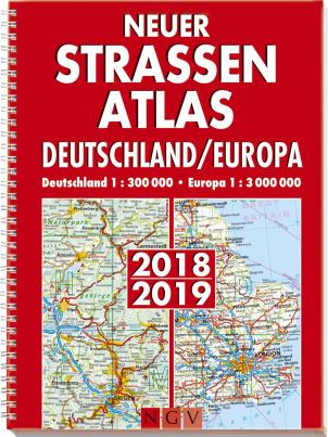Neuer Straßenatlas Deutschland/Europa 2018/2019