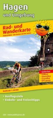 PublicPress Rad- und Wanderkarte Hagen und Umgebung