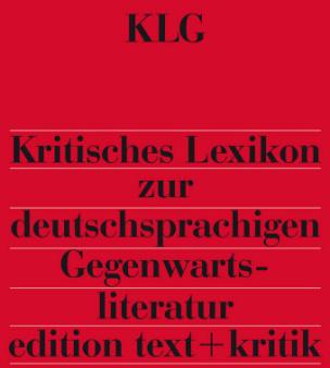 Kritisches Lexikon zur deutschsprachigen Gegenwartsliteratur (KLG), 14 Ordner zur Fortsetzung