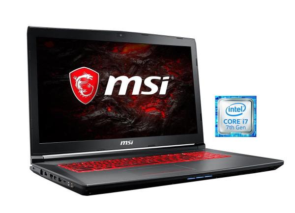 """MSI Gaming-Notebook """"GV72 7RD-1084DE (001799-1084)"""" (17,3 Zoll, i7-7700HQ, GTX 1050, 8 GB RAM)"""
