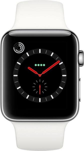 """APPLE Smart Watch """"Watch Series 3"""" (GPS, Cellular, 42 mm Edelstahlgehäuse, Soft Weiß)"""