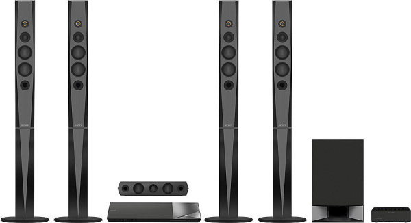 "SONY Soundsystem ""BDV-N9200W"" (1200 Watt, Blu-ray, 3D, 4K, High-Resolution Audio)"