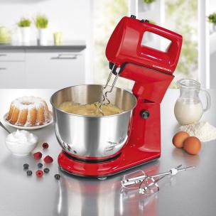 GOURMETmaxx Küchenmaschine mit abnehmbarem Handmixer in Ro