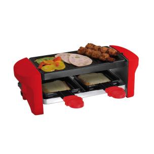 Raclette und Grill für 2 Personen rot