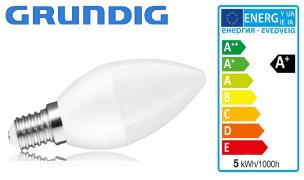 Energiesparlampe LED-Glühlampe E14 Grundig
