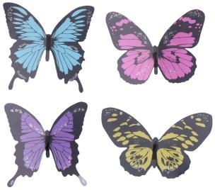 Schmetterlinge 3D Wanddeko 12er Set