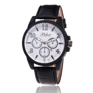 Armbanduhr mit Datumsanzeige in Chrono-Optik schwarz