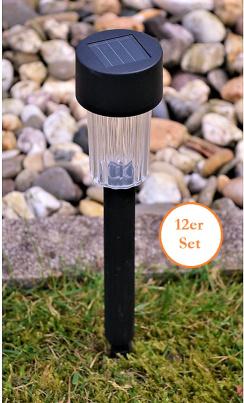 LED Solarlampen 12er Set