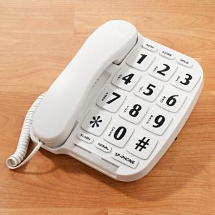 Telefon für Senioren mit extra großen Tasten weiß