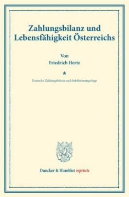 Zahlungsbilanz und Lebensfähigkeit Österreichs.
