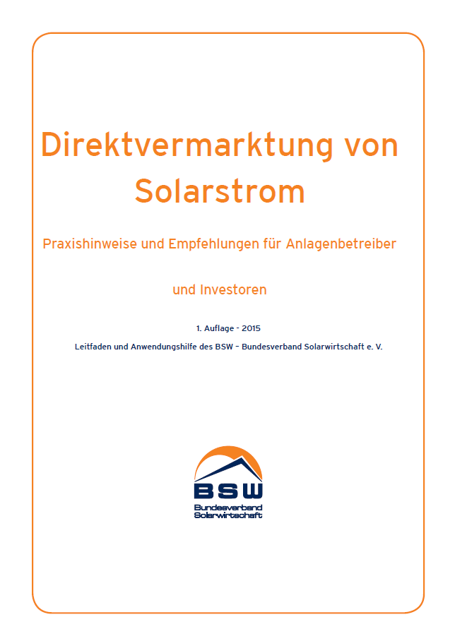 Direktvermarktung von Solarstrom: Praxishinweise für Anlagenbetreiber und Investoren