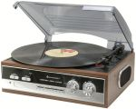 Nostalgie Plattenspieler mit Radio, eingebaute Stereolautsprecher