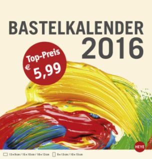 Bastelkalender mittel champagner 2016