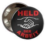 Held der Arbeit-Button - schwarz