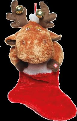 Plüsch Weihnachtsstiefel - Elch