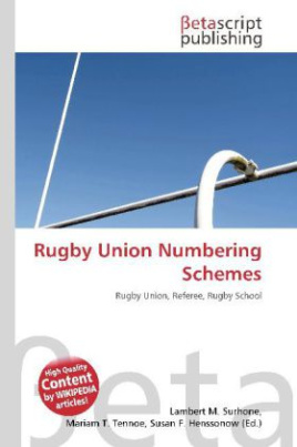 Rugby Union Numbering Schemes