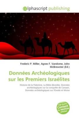 Données Archéologiques sur les Premiers Israélites