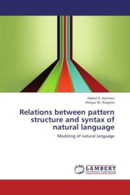 Relations between pattern structure and syntax of natural language