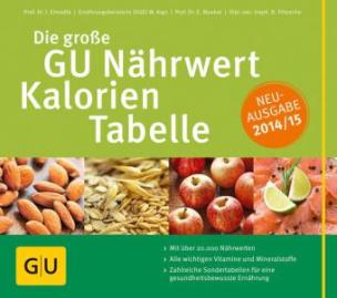 Die große GU Nährwert-Kalorien-Tabelle 2014/15