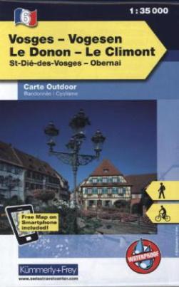 Kümmerly & Frey Outdoorkarte Elsass, Vogesen - Vosges/Vogesen, Le Donon, Le Climont