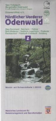 Topographische Freizeitkarte Hessen (1 : 20.000) - Nördlicher Vorderer Odenwald