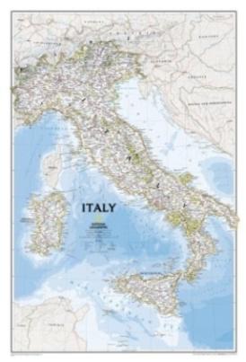 National Geographic Map Italy, Planokarte