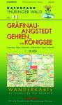 Wanderkarte mit Loipen und Radrouten: Thüringer Wald Nr.11