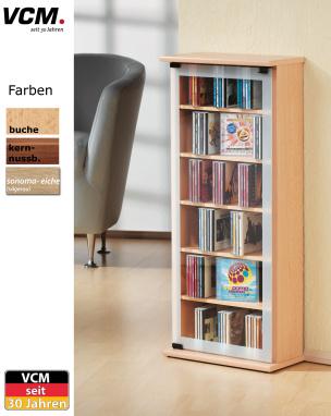 """CD-Schrank """"Classic - kern-nussbaum"""" für 150 CDs"""